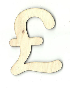 Pound Symbol - Laser Cut Wood Shape Mny3 Craft Supply