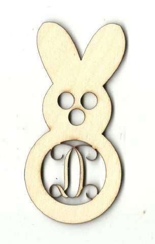 Bunny Rabbit Monogram - Laser Cut Wood Shape Mono4 Craft Supply