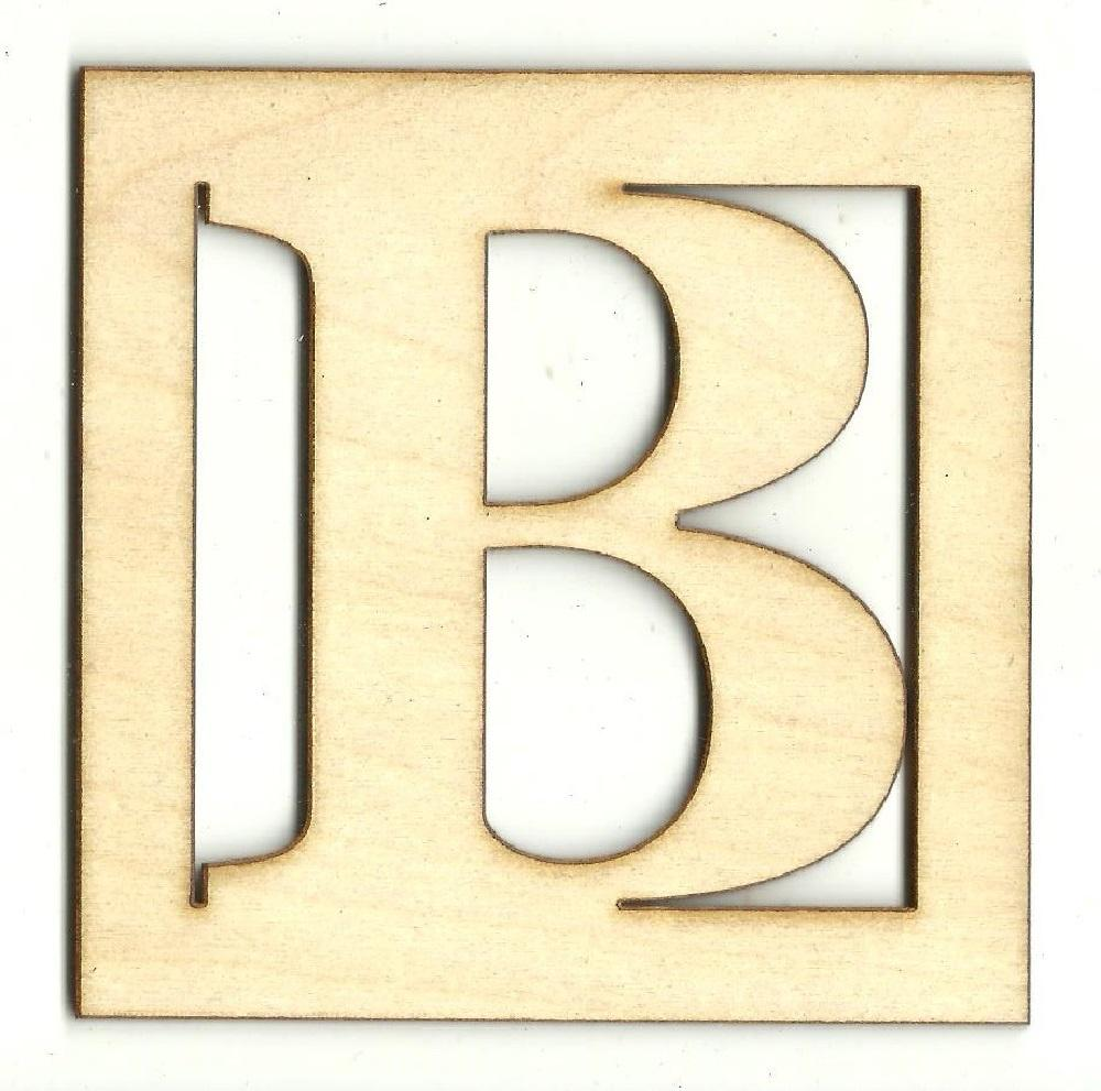 Square Monogram - Laser Cut Wood Shape Mono60 Craft Supply