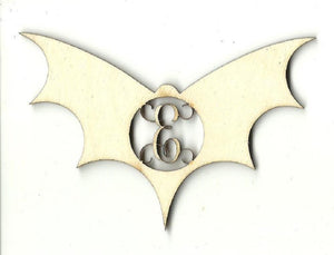 Bat Monogram - Laser Cut Wood Shape Mono79 Craft Supply