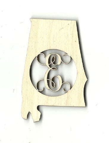 Alabama Monogram - Laser Cut Wood Shape