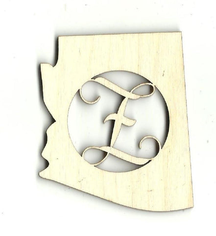 Arizona Monogram - Laser Cut Wood Shape