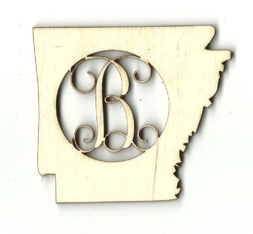 Arkansas Monogram - Laser Cut Wood Shape Craft Supply