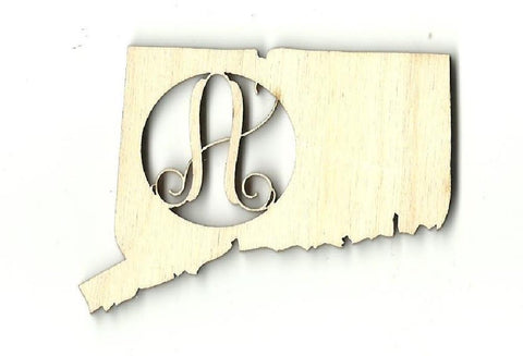 Connecticut Monogram - Laser Cut Wood Shape Craft Supply
