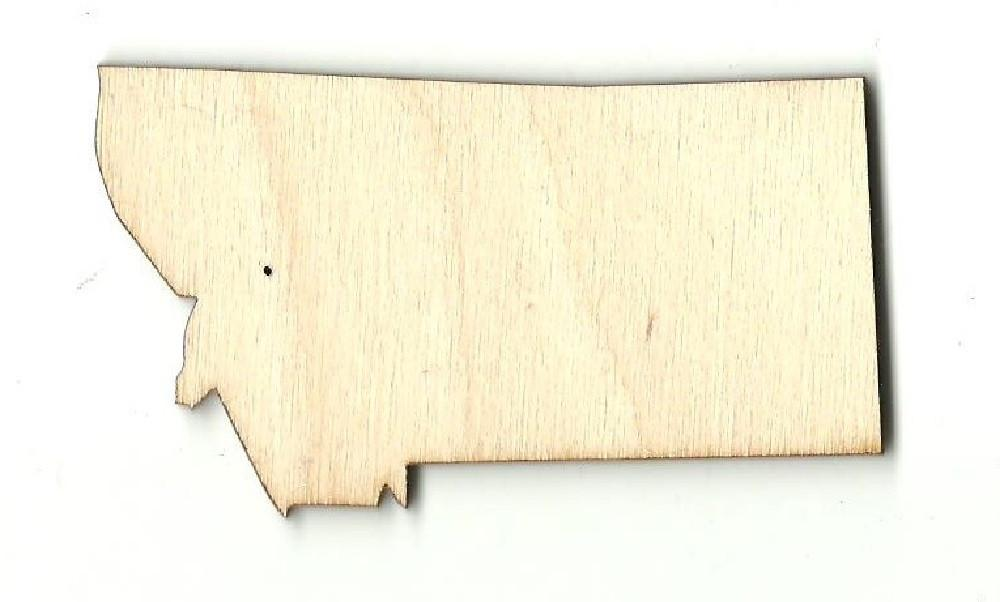 Montana Us State - Laser Cut Wood Shape Craft Supply