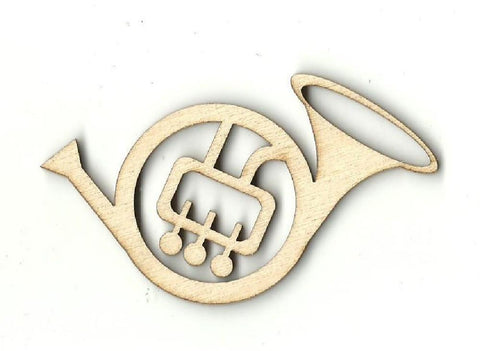 French Horn - Laser Cut Wood Shape Msc12 Craft Supply