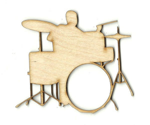 Drummer & Drums - Laser Cut Wood Shape MSC15