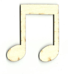 Music Note - Laser Cut Wood Shape Msc2 Craft Supply