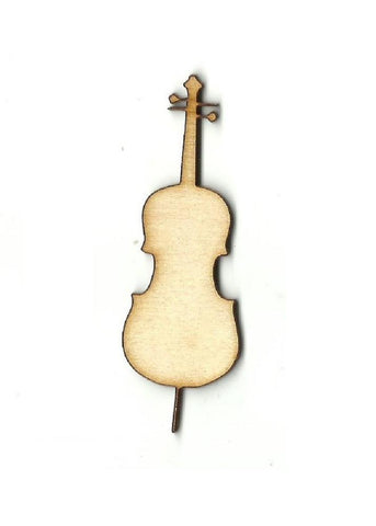 Cello - Laser Cut Wood Shape Msc28 Craft Supply