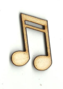 Music Note - Laser Cut Wood Shape Msc26 Craft Supply