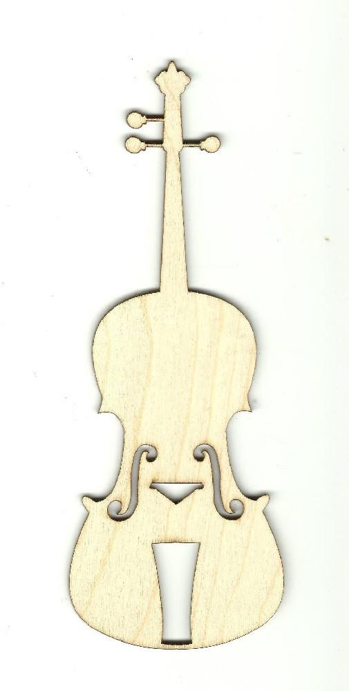 Violin - Laser Cut Wood Shape Msc24 Craft Supply