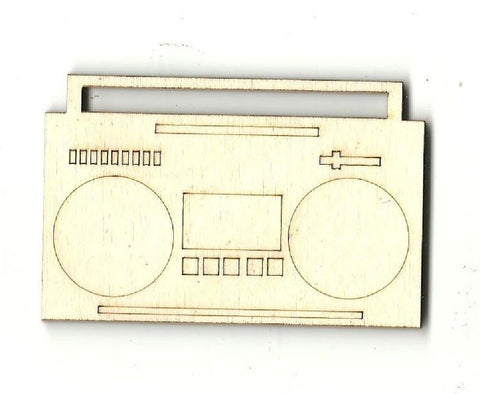 Boom Box - Laser Cut Wood Shape Msc5 Craft Supply