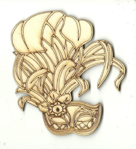 Mask - Laser Cut Wood Shape Msk16 Craft Supply