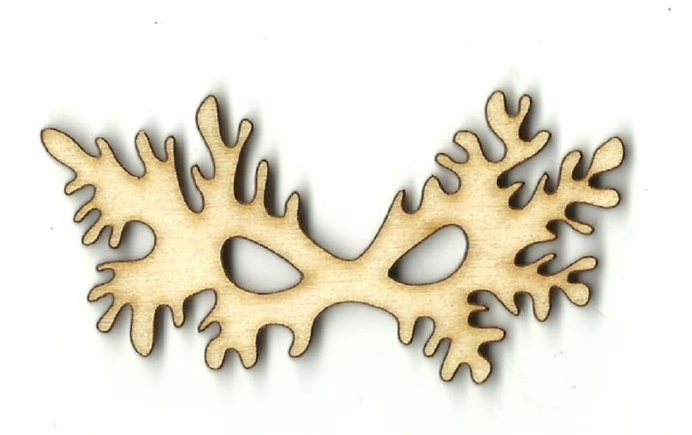 Masquerade Mask - Laser Cut Wood Shape Msk10 Craft Supply