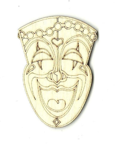 Comedy Mask - Laser Cut Wood Shape Msk5 Craft Supply