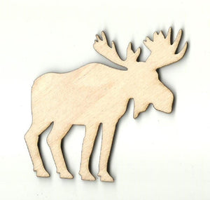 Moose - Laser Cut Wood Shape Mus7 Craft Supply