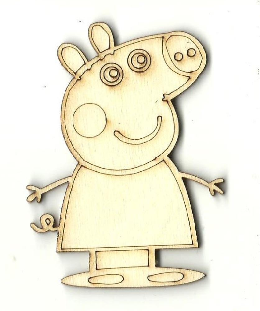 Peppa - Laser Cut Wood Shape Mve55 Craft Supply