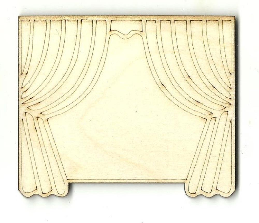 Theater Curtain - Laser Cut Wood Shape Mve65 Craft Supply