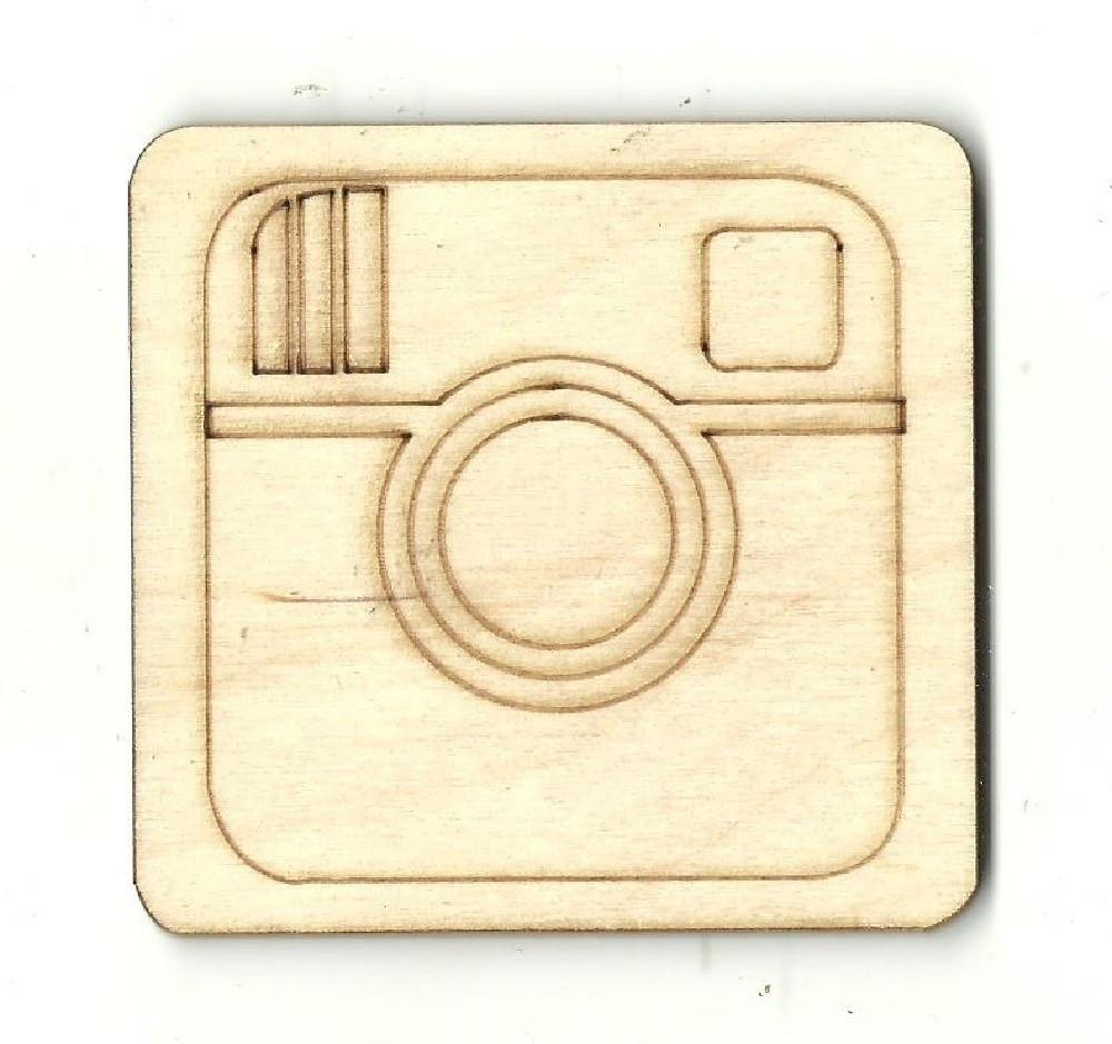 Camera Sign - Laser Cut Wood Shape Mve6 Craft Supply