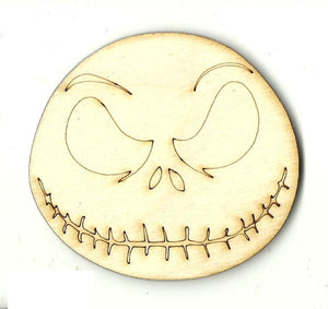 Skeleton Face - Laser Cut Wood Shape MVE78
