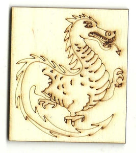 Dragon - Laser Cut Wood Shape Myth101 Craft Supply