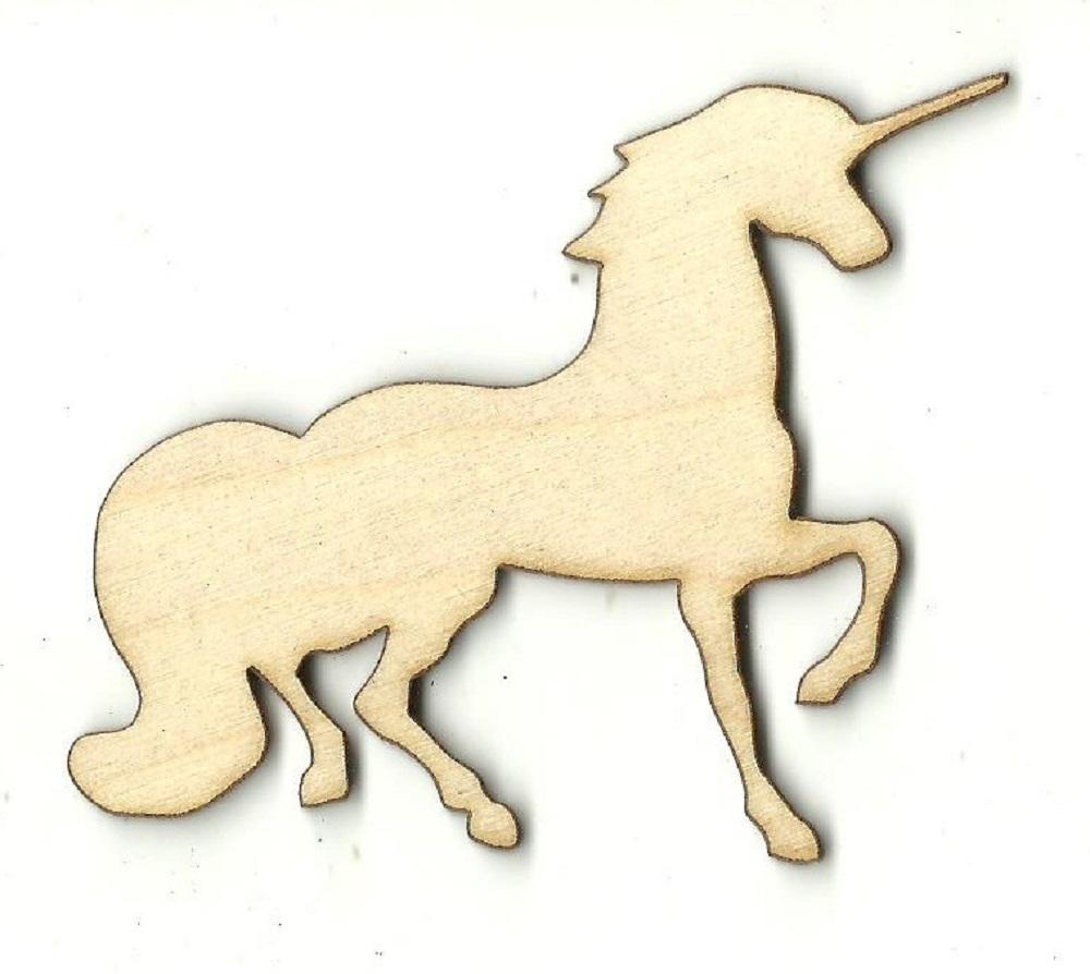 Unicorn - Laser Cut Wood Shape Myth105 Craft Supply