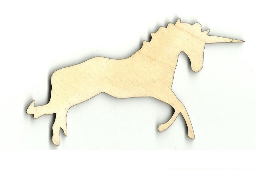 Unicorn - Laser Cut Wood Shape Myth73 Craft Supply
