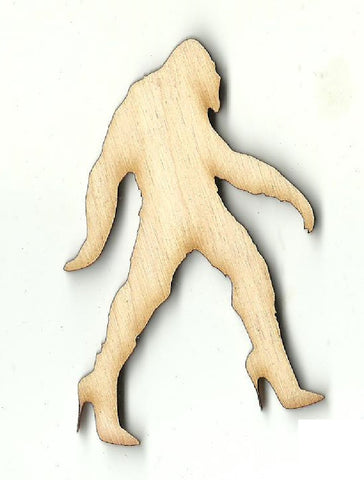 Bigfoot in Heels - Laser Cut Wood Shape MYTH110