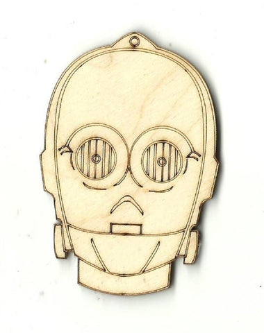 C3Po - Laser Cut Wood Shape Myth22 Craft Supply