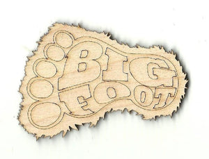 Big Foots Foot - Laser Cut Wood Shape Myth23 Craft Supply