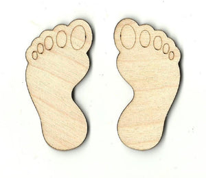 Bigfoot Feet - Laser Cut Wood Shape Myth27 Craft Supply