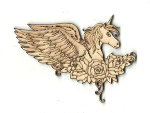 Unicorn - Laser Cut Wood Shape Myth41 Craft Supply