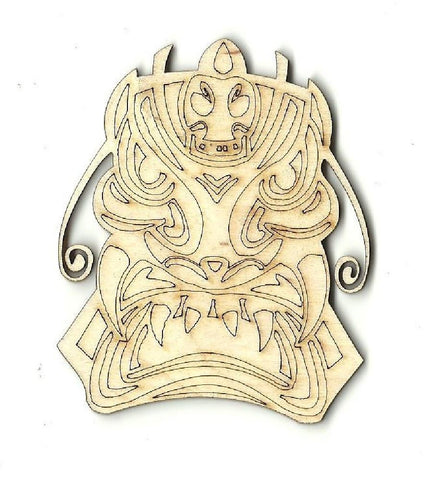 Tiki - Laser Cut Wood Shape Myth43 Craft Supply