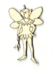 Fairy - Laser Cut Wood Shape Myth5 Craft Supply