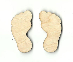 Big Foot Feet - Laser Cut Wood Shape Myth69 Craft Supply