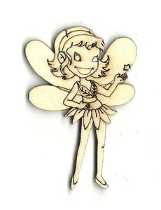 Fairy - Laser Cut Wood Shape Myth7 Craft Supply