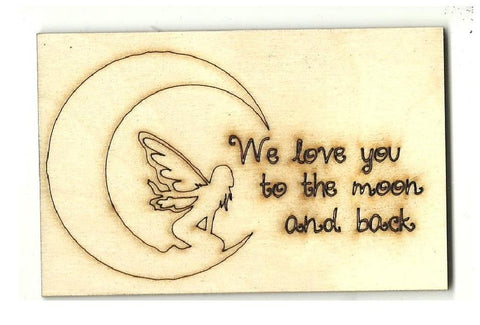 Fairy Picture - Laser Cut Wood Shape Myth99 Craft Supply