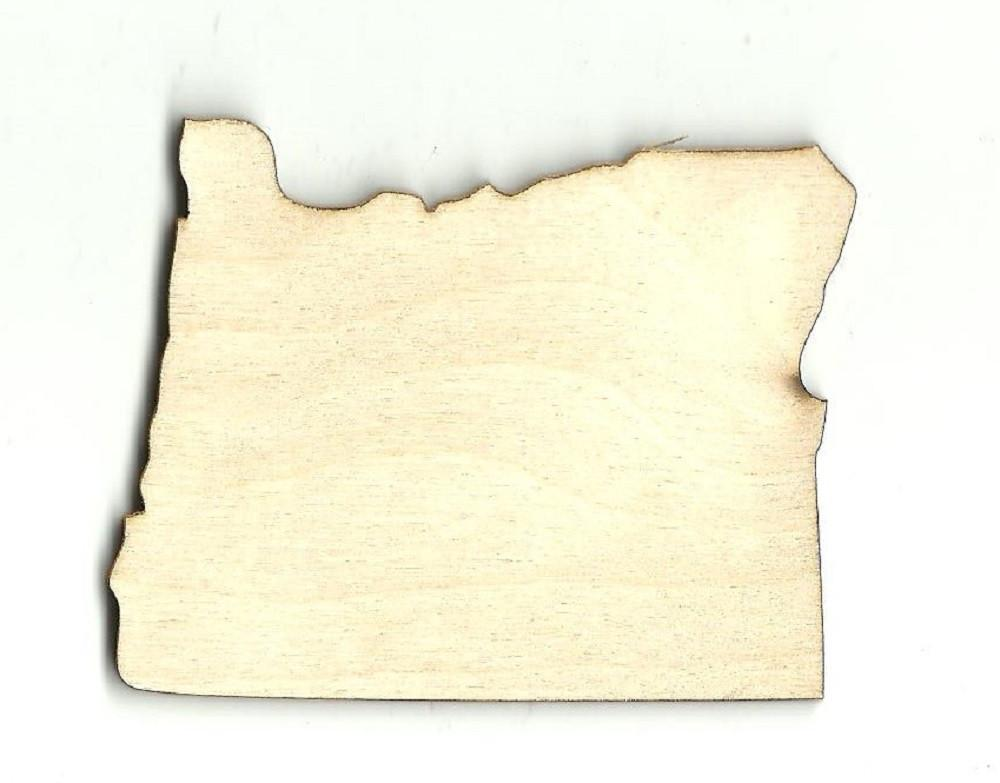Oregon Us State - Laser Cut Wood Shape Craft Supply