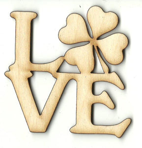 Love Shamrocks - Laser Cut Wood Shape PAT12