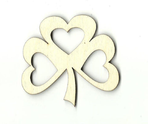 Clover Leaf - Laser Cut Wood Shape Pat2 Craft Supply
