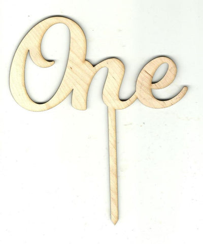 Number One 1 Pick - Laser Cut Wood Shape Pic10 Craft Supply