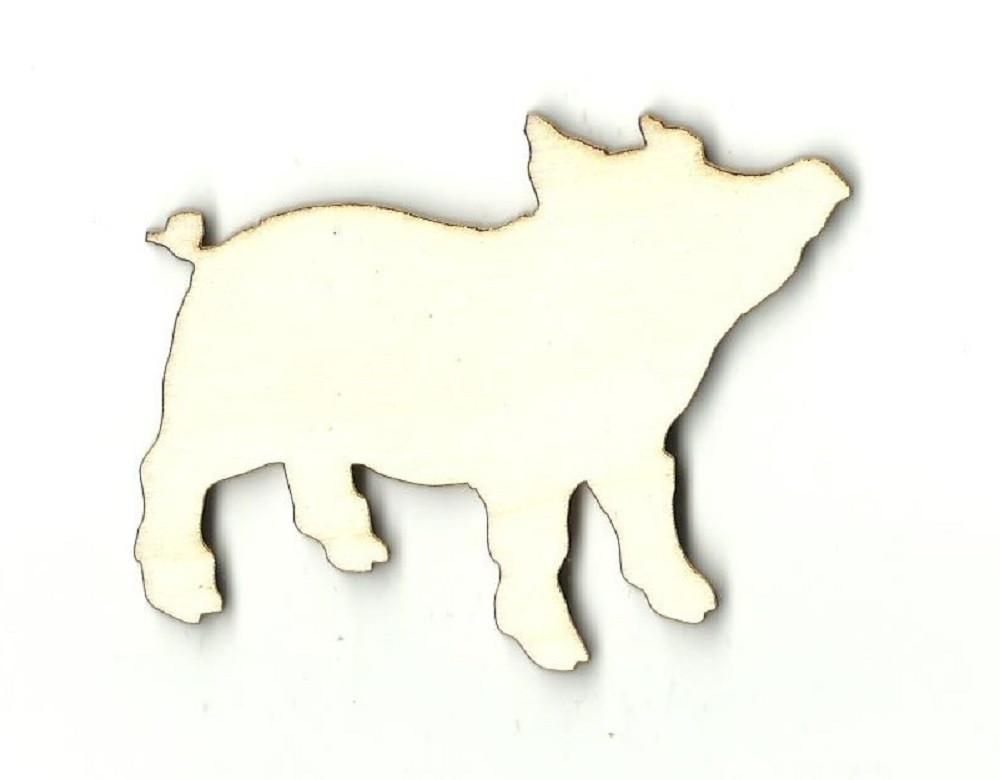 Pig - Laser Cut Wood Shape Pig1 Craft Supply