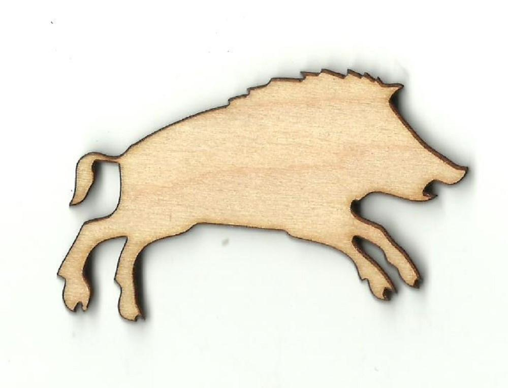 Wild Pig - Laser Cut Wood Shape Pig10 Craft Supply