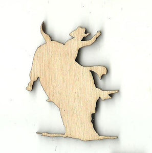 Bullrider - Laser Cut Wood Shape Ppl110 Craft Supply