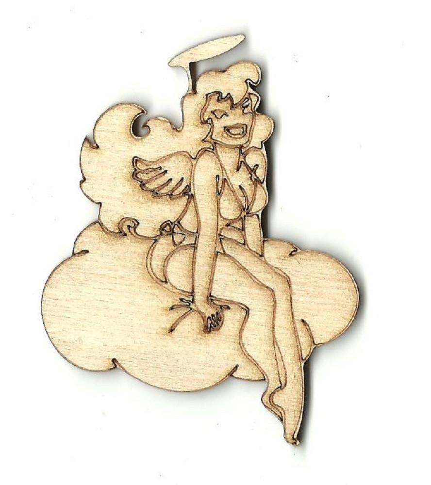 Angel - Laser Cut Wood Shape Ppl13 Craft Supply