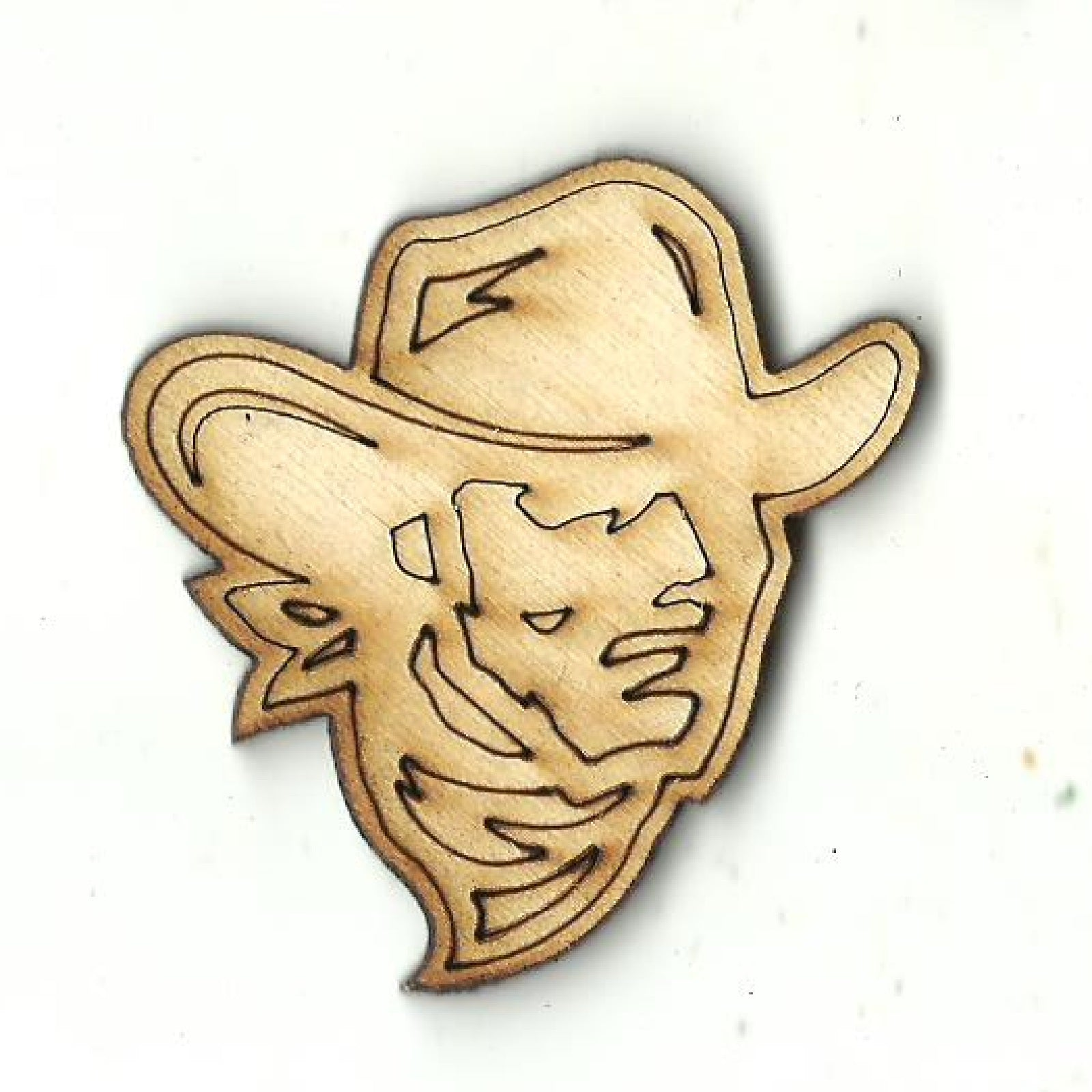 Cowboy - Laser Cut Wood Shape PPL232