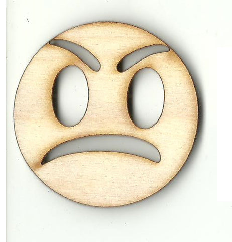 Angry Face - Laser Cut Wood Shape PPL236