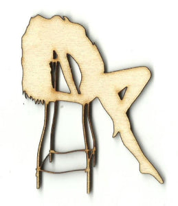 Woman Leaning Back In A Chair - Laser Cut Wood Shape Ppl129 Craft Supply