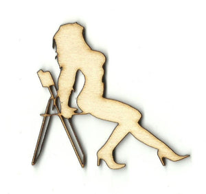 Woman Sitting In A Chair - Laser Cut Wood Shape Ppl128 Craft Supply