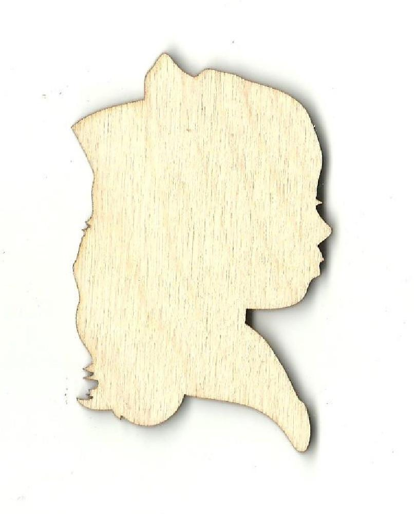 Girl Bust - Laser Cut Wood Shape Ppl72 Craft Supply